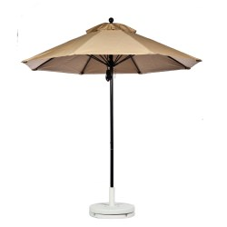 11 Ft. Pulley Fiberglass Market Umbrella with Black Color Pole