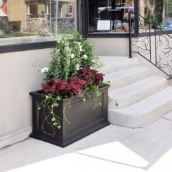 Novo Oxford 20x36 Inch Tall UV and Mold Resistant Commercial Planter