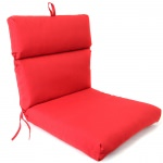 Pompei Red French Edge Club Chair Cushion