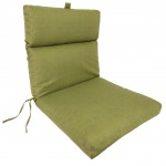 Olive French Edge Club Chair Cushion