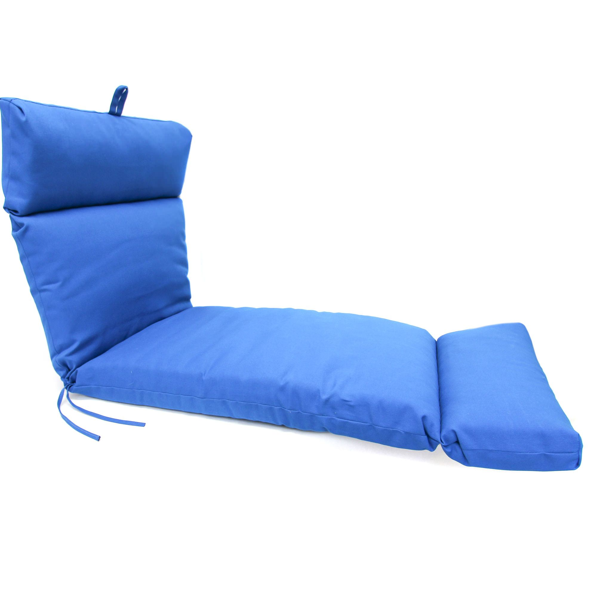 Pacific blue chaise lounge cushion dfohome for Blue chaise cushions