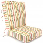 Jolene Ivory Striped Deep Seating Box Cushion
