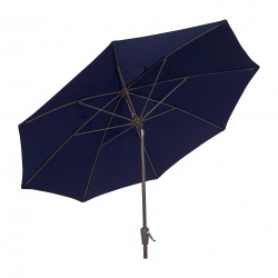 9 Ft Crank Lift Terrace Umbrella with Bronze Pole and Push Button Tilt