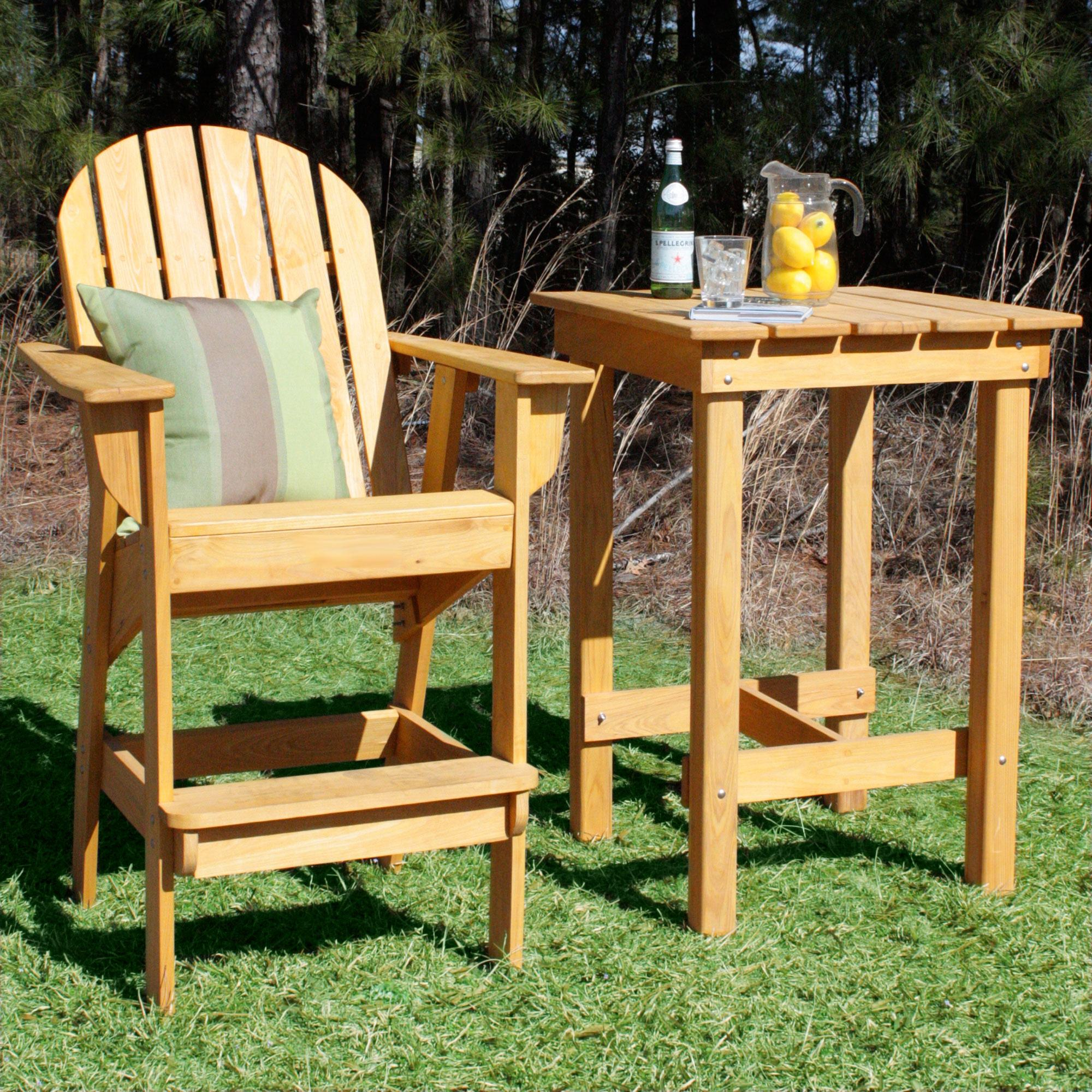 Stained Cypress Adirondack Bar Table
