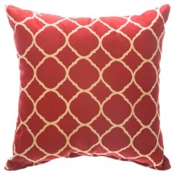 Accord II Crimson Sunbrella Designer Porch Pillow