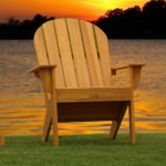Cypress Adirondack Chair - Honey Gold