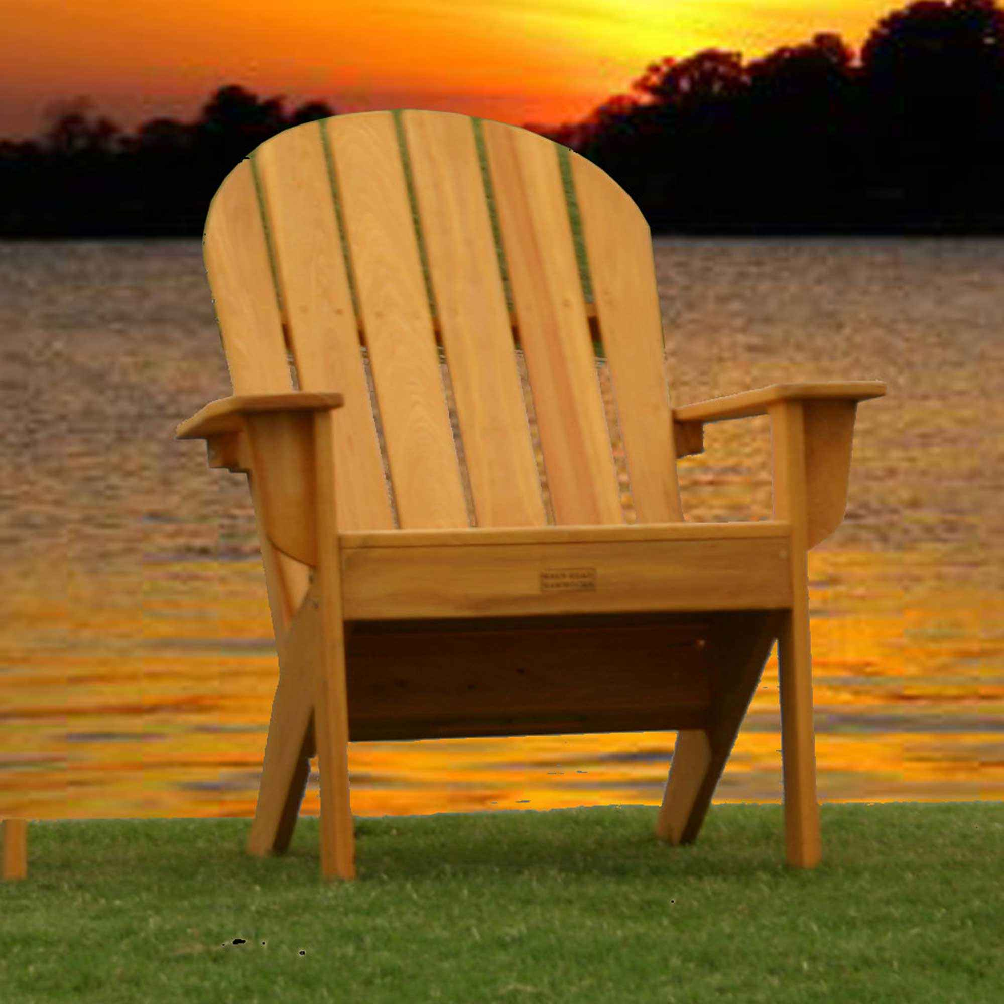 Cypress Adirondack Chair Honey Gold