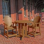Hamilton 3pc Round Counter Dining Set