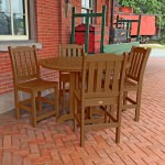 Lehigh 5pc Round Counter Dining Set