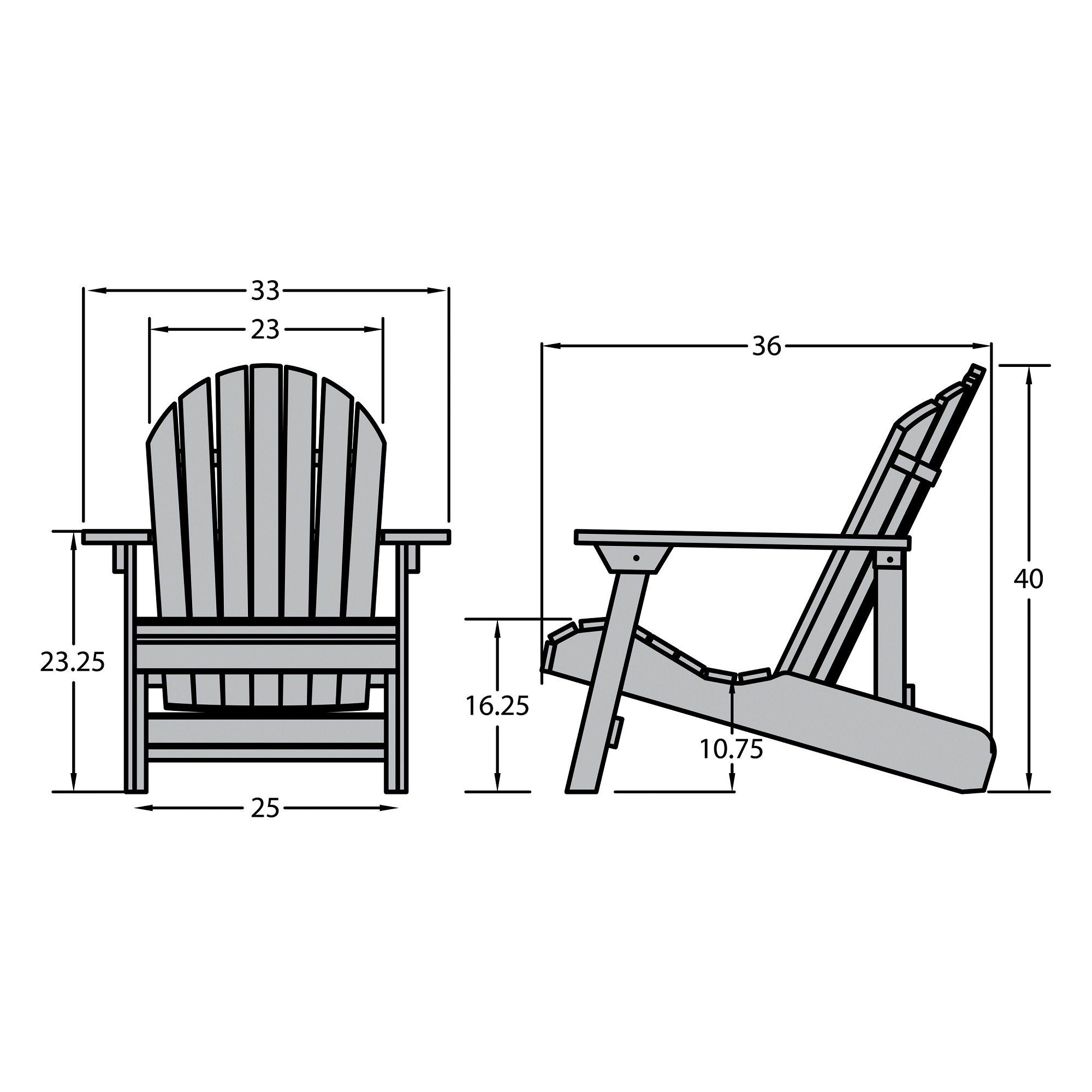 King Hamilton Folding And Reclining Adirondack Chair