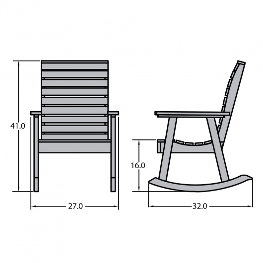 Weatherly Rocking Chair Highwood Dfohome