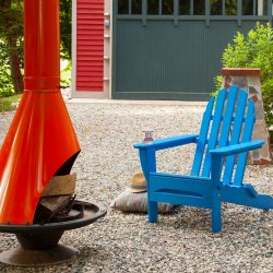 Blue Folding Adirondack Chair