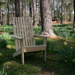 Hometown Exclusive Cypress Rustic Adirondack Square Chair