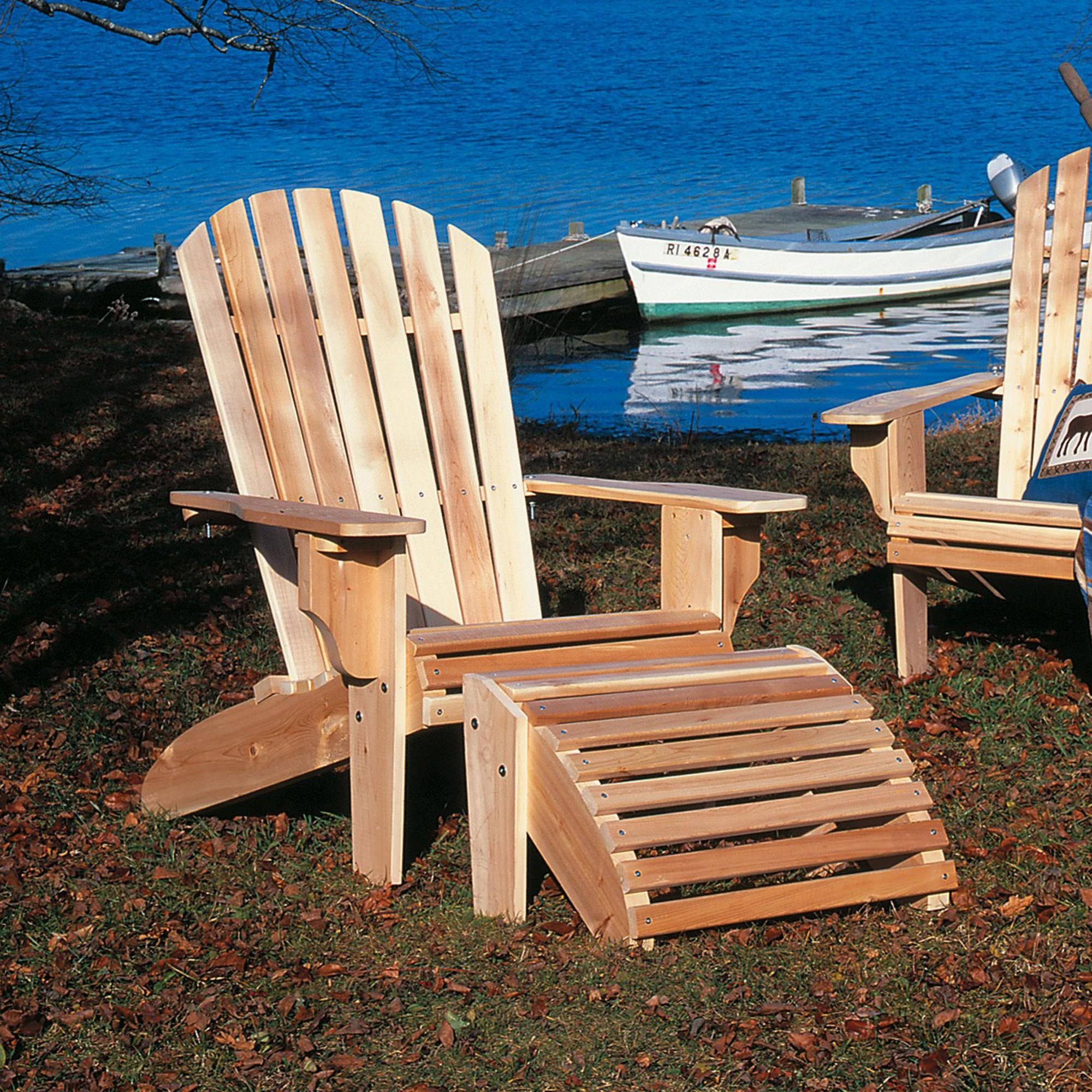 Cedar Oversized Adirondack Chair