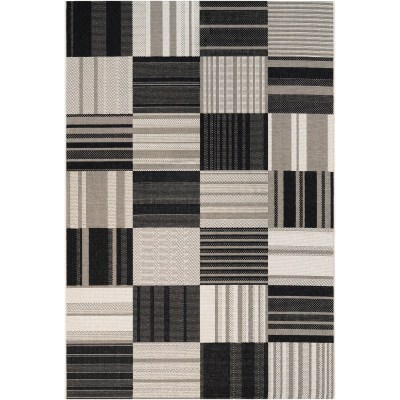 Afuera Patchwork Onyx/Ivory Outdoor Rug