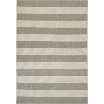 Afuera Yacht Club Tan/Ivory Outdoor Rug