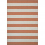 Afuera Yacht Club Pumpkin/Ivory Outdoor Rug