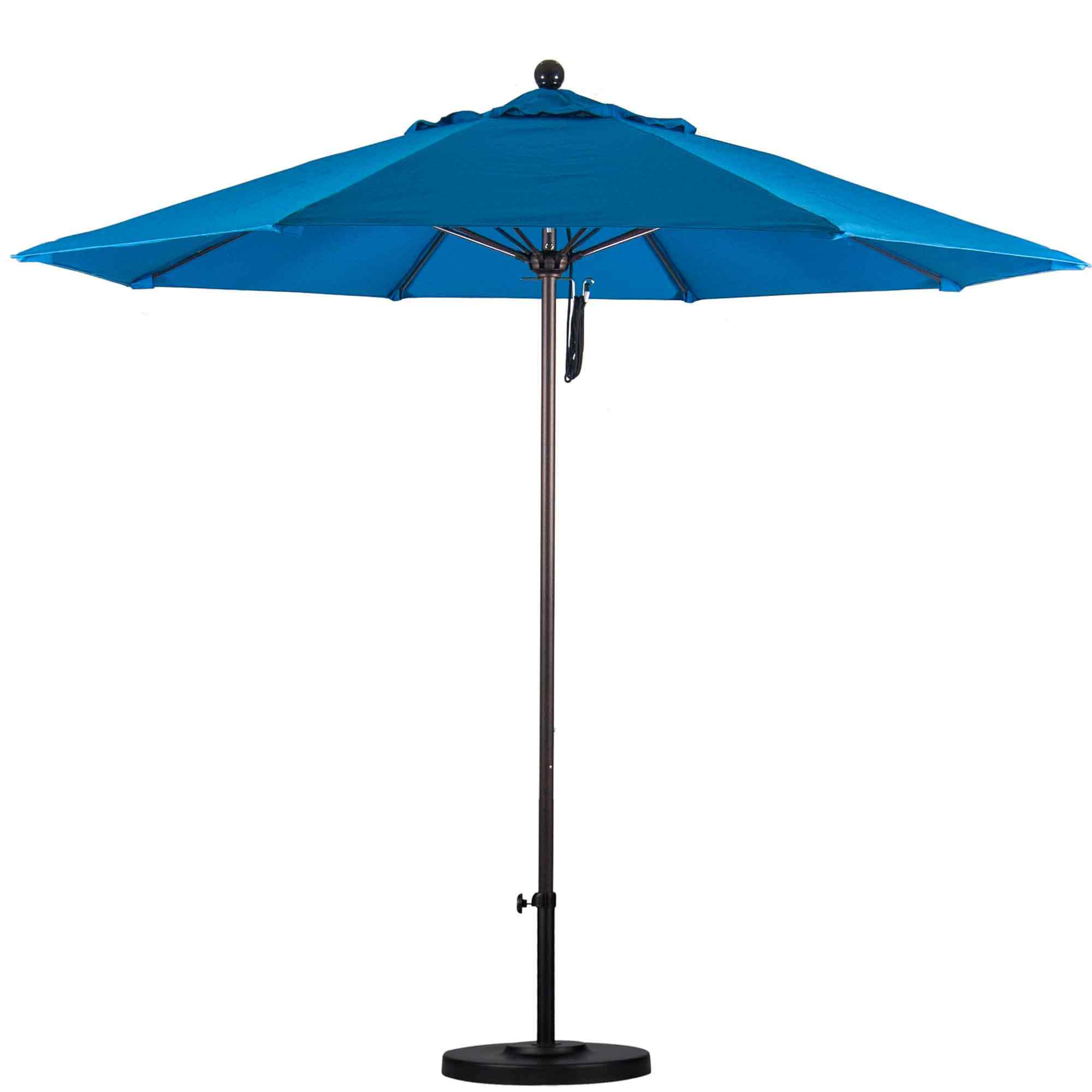 11 Ft Sunbrella Pulley Patio Umbrella With Bronze Pole
