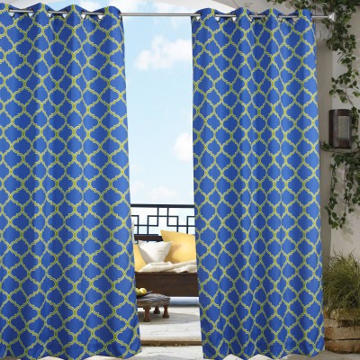 Blue Arbor Polyester Outdoor Curtain