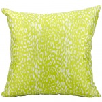Mina Victory Leopard Print Green Outdoor Pillow
