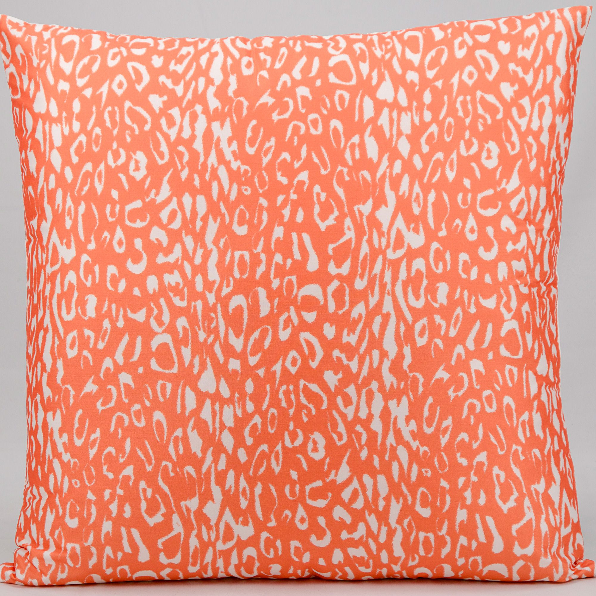 Perfect Mina Victory Leopard Print Orange Outdoor Pillow