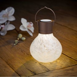 Allsop Solar Tea LED Lantern White