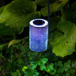 Soji Stella Cylinder Solar Lantern in Midnight Blue