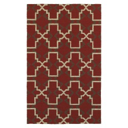 Tommy Bahama Atrium ATU51103 Red and Brown Indoor/Outdoor Rug