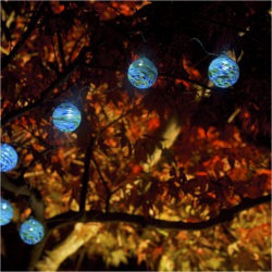 Aurora Glow Sea Glass Solar String Lights