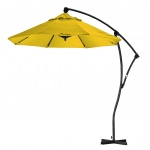 9' Cantilever Market Umbrella Deluxe Crank Lift - Lemon