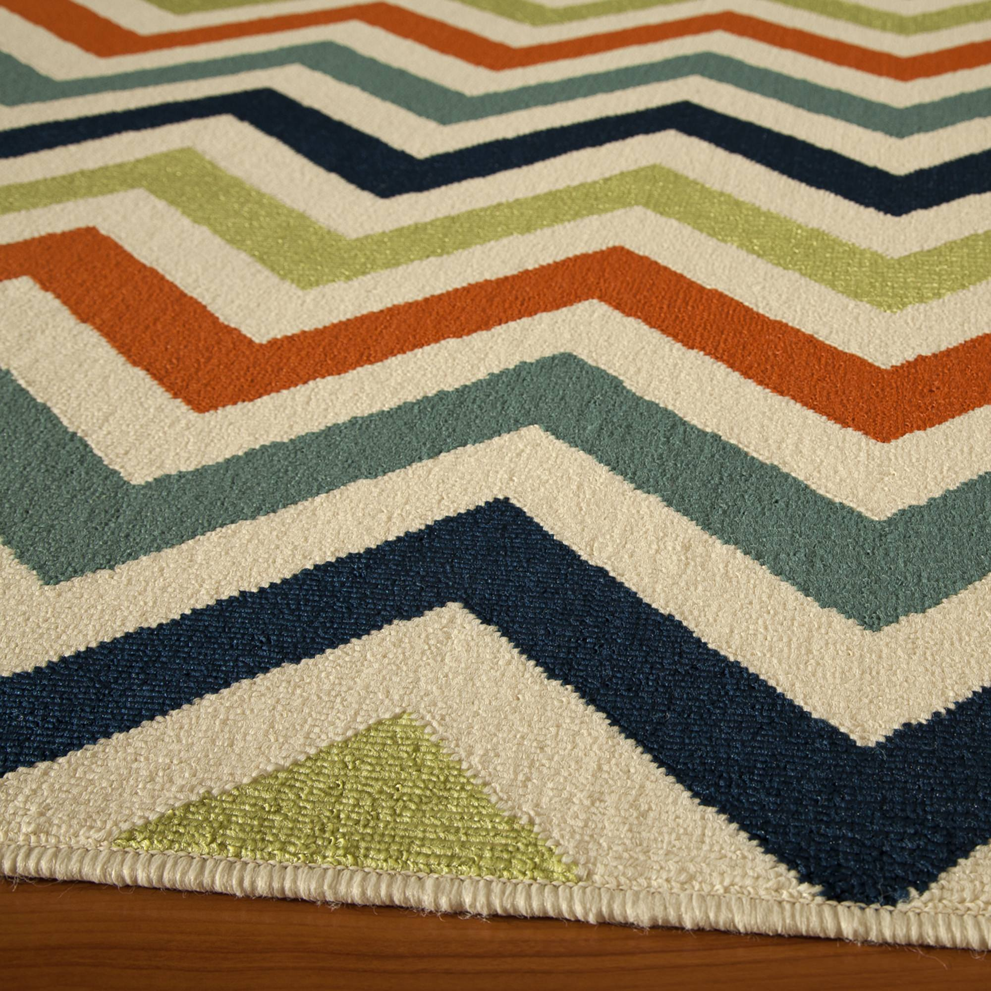 Beautiful Shop Baja Multi Color Chevron Outdoor Rug (ft In X Ft In