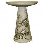 Clay Chickadee Bird Bath