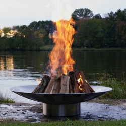 46 in. Stainless Steel Bella Vita Fire Pit