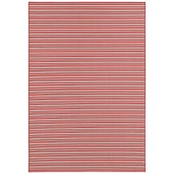 Berkshire Potomac Red/White Outdoor Rug