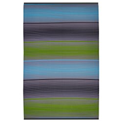 Berlin Green and Multicolor Outdoor Mat