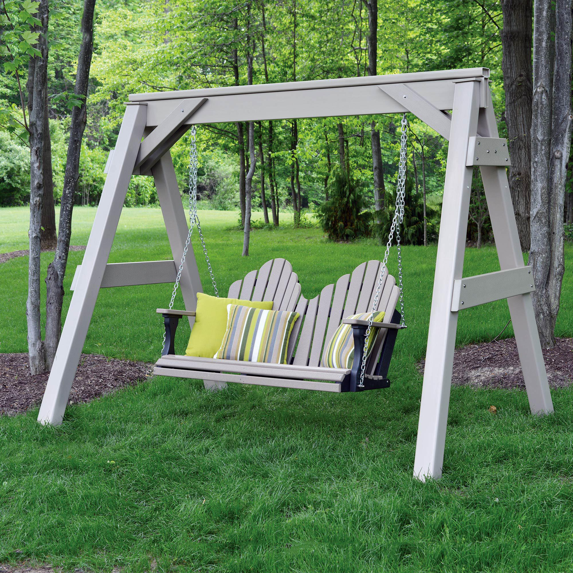 canopy stand sunbrella with wooden swing c porch