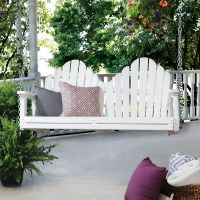 Cozi-Back Double Porch Swing with Zinc Plated Chains