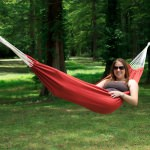 Single Brazilan Hammock in a Bag - Red