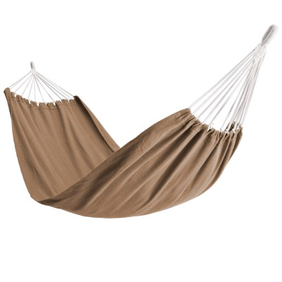 Single Brazilan Hammock in a Bag - Tan