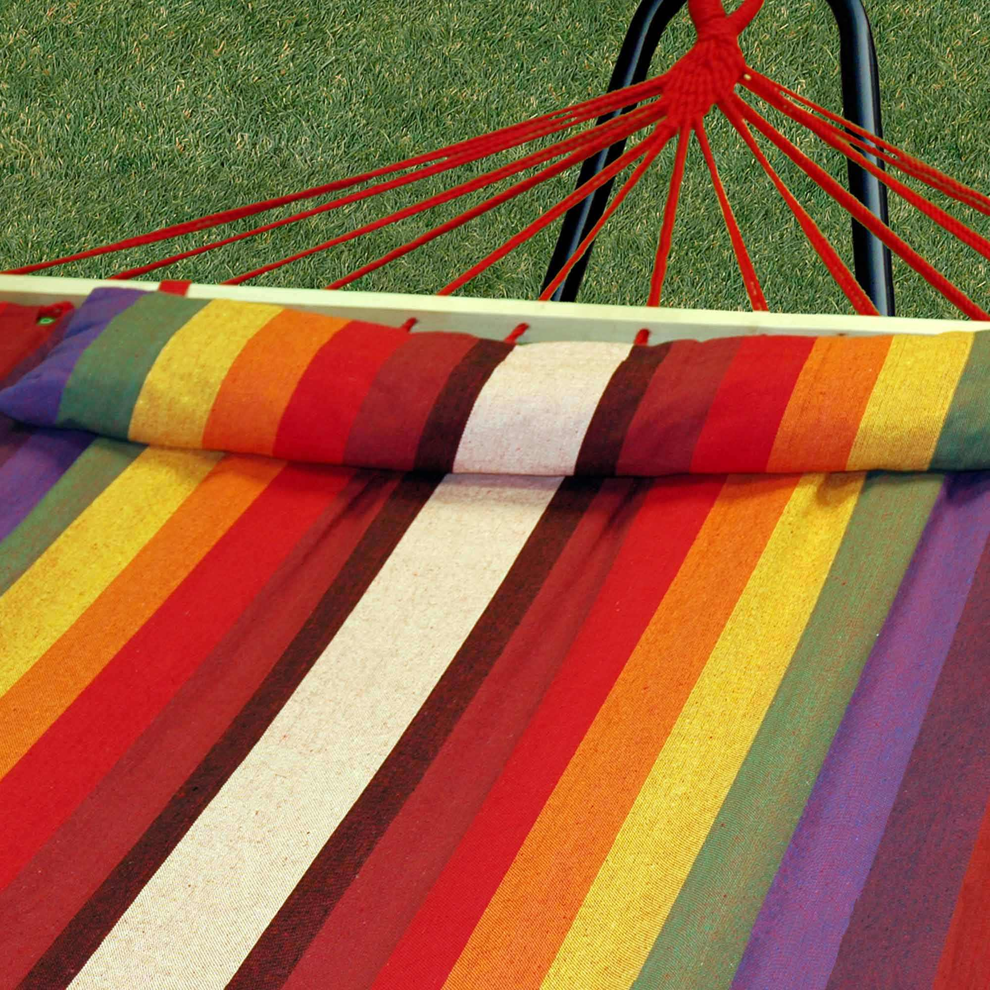 Oversized Hammock With Spreader Bars Tequila Sunrise
