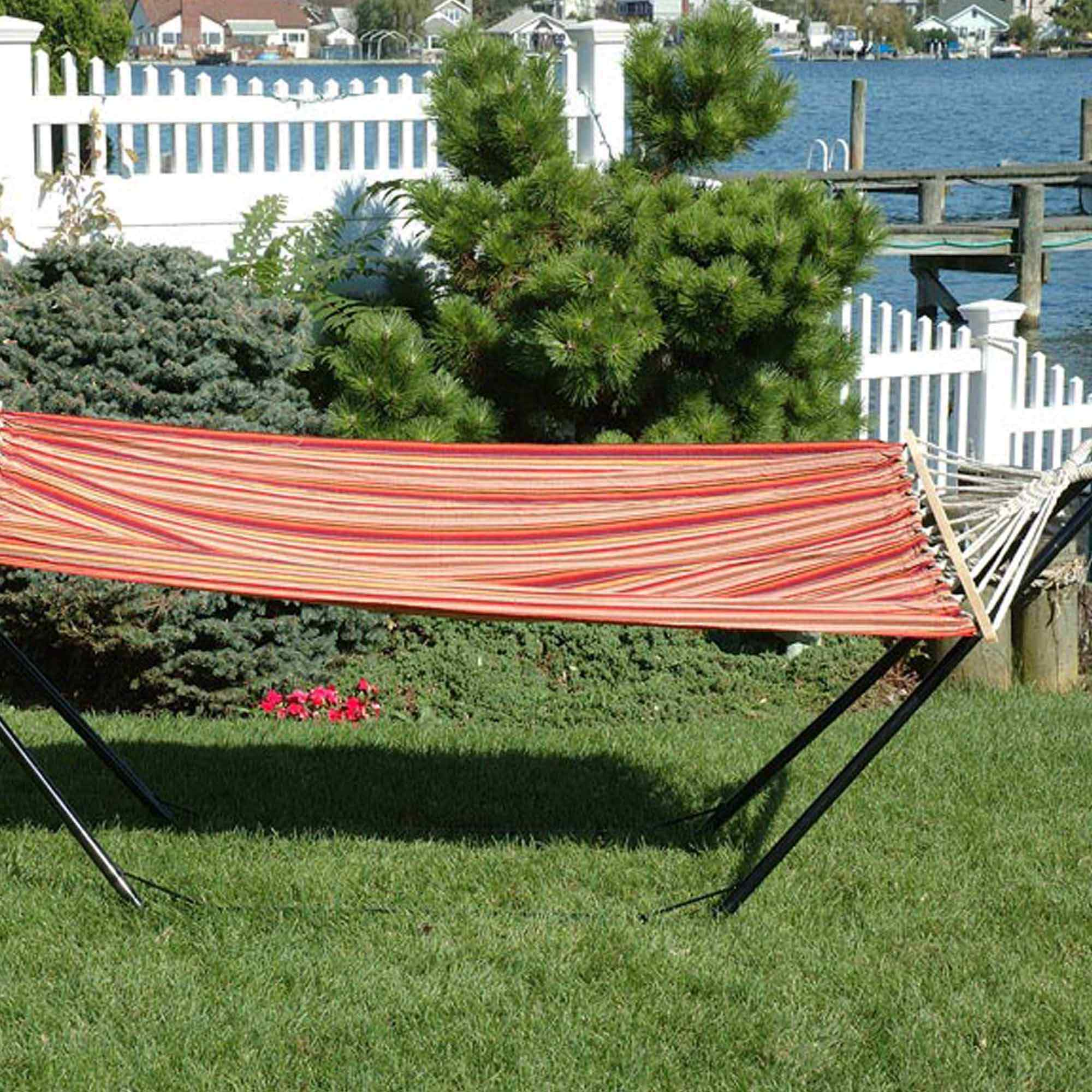 Oversized Hammock With Spreader Bars Toasted Almond