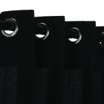 Black Onyx WeatherSmart Outdoor Curtain With Grommets