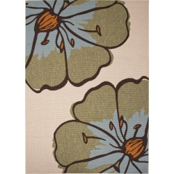 Jaipur Bloom Birch Taupe and Tan Porch Outdoor Rug