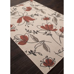 Jaipur Bloom Birch Ivory and White Spring Outdoor Rug