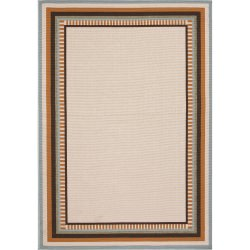 Jaipur Bloom Birch Taupe and Tan Matted Outdoor Rug