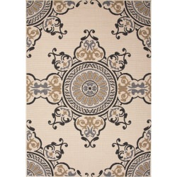 Bloom Birch Taupe and Tan Mobile Outdoor Rug