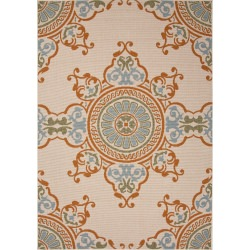 Jaipur Bloom Birch Taupe and Tan Mobile Outdoor Rug