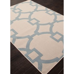 Jaipur Bloom Birch Taupe and Tan Cordon Outdoor Rug