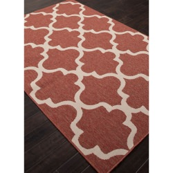 Jaipur Bloom Jester Red Stamped Outdoor Rug
