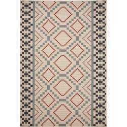 Jaipur Bloom Birch Ivory and White Sammi Outdoor Rug